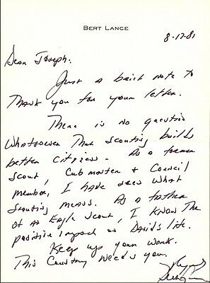 Carter Administration - BERT LANCE Autograph Letter Signed and Photo