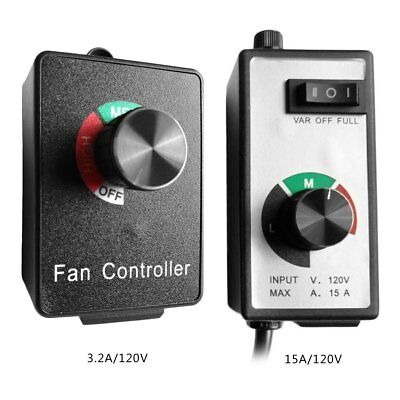 Variable Blower Speed Fan Controller Inline Duct Exhaust Fan Speed Controller@X