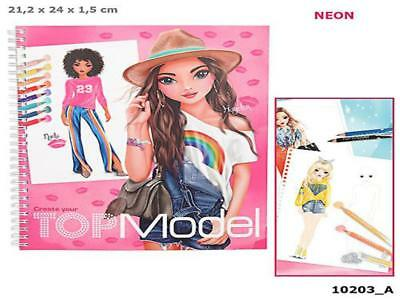 Mode Top Model Coloriage Fille.Top Model 10203 A Creer Votre Top Model Livre De Coloriage Depesche Neuf
