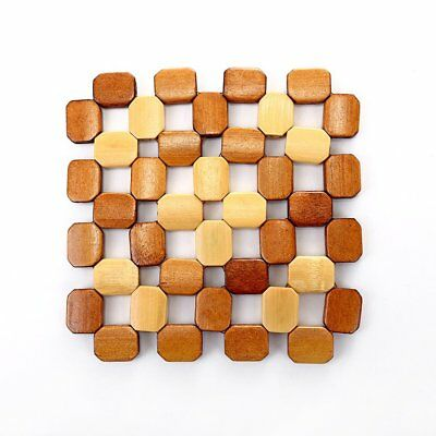 Bamboo placemats Anti-scalding anti-slip bowl coasters Insulated table mats UJ