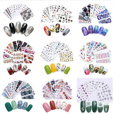 50 Sheets Nail Stickers Nail Art Decals Flower Fruit Snowflake Dream Catcher Lot