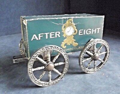 """SUPERB 8"""" ~ SILVER Plated ~ 'AFTER 8' ~ GUN Carriage ~ Chocolate TROUGH ~ c1960"""