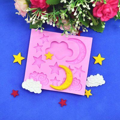 Star Cloud Moon Silicone Mould Fondant Clay Decorative Mould DIY Baking UJ