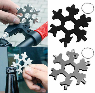 Multi-tool 18 In 1 Card Combination Compact Portable Outdoor Snowflake Stainless