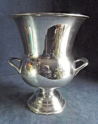SUPERB Large ~ SILVER Plated ~ CAMPANA Styled ~ Ice BUCKET ~ c1960