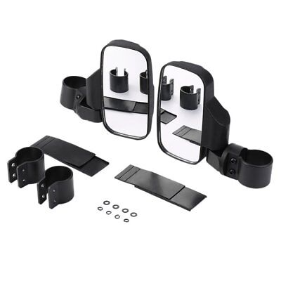 Side View Mirror Kit Set - UTV Offroad Impact Break-Away Large Wide View Race M2
