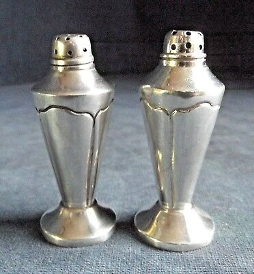 SUPERB ~ ART DECO Style ~ Mexican SOLID SILVER ~ SALT & PEPPER Shakers ~ c1935