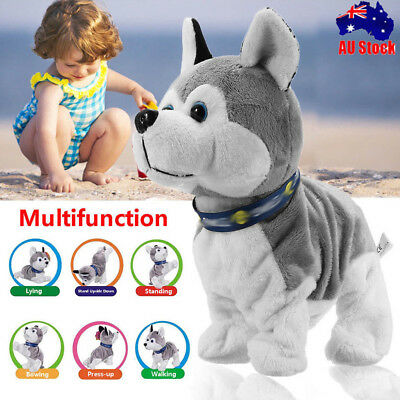 Electric Toy Interactive Plush Dog Walking Barking Voice Control Christmas Gifts