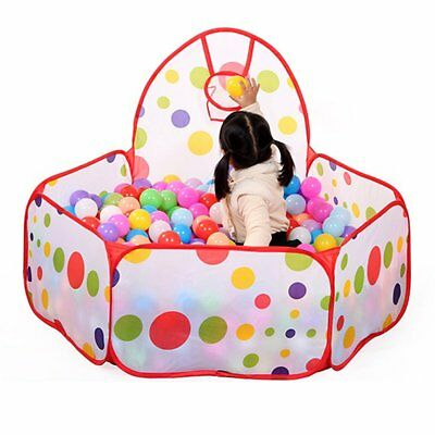 Portable Kids Outdoor/Indoor Game Play Children Toy Tent Ocean Ball Pit Pool H W