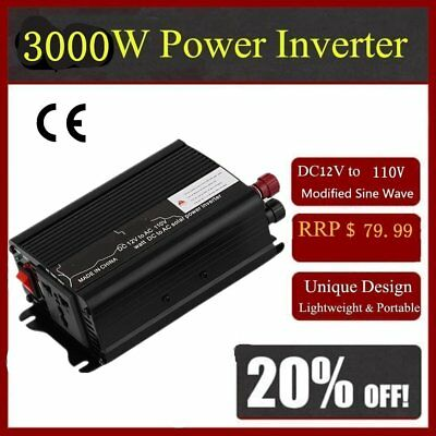 3000W DC 12V to AC 220V Car Power Inverter Charger Converter for Electronic XP