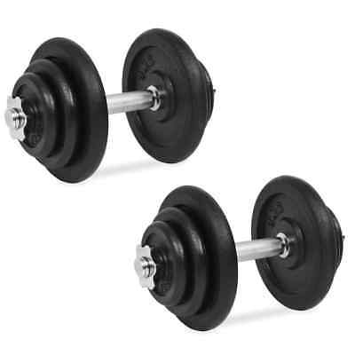 Cast Iron Dumbbell Set Fitness Exercise Gym Bicep Weight Training 20/30/40KG