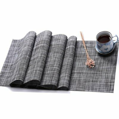 Placemats for Kitchen Table Woven Vinyl Non-slip Heat Insulation Table Mats  OP