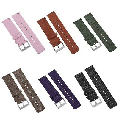 Replacement Woven Canvas Nylon Wrist Band Strap Wristband For Fitbit Versa Watch