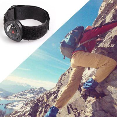Compass Outdoor Clip-On Watchband Hiking Gear Compasses Nylon Band Bracelet RO