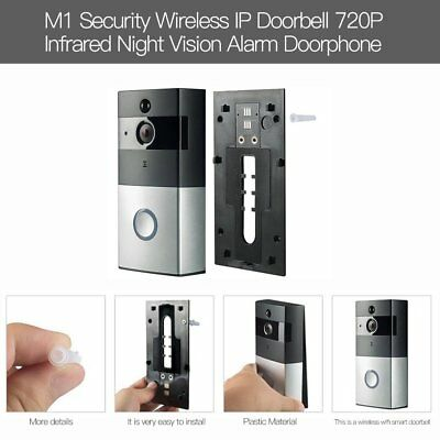 Smart Video Doorbell Wireless Home WIFI Security Camera With Indoor Chime UU
