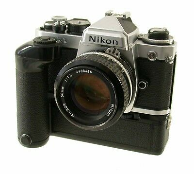 NIKON FE 2 FE2 SLR body chrome MD-12 AR-1 Nikkor 1,4/50 AI 50 50mm F1,4 /18K