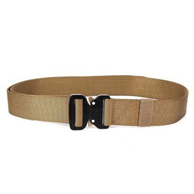 Men Adjustable Nylon Waist Belt Tactical Belt Multifunction Outdoor Training JL