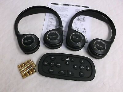 Oem 2014-2018 Cadillac Rear Dvd Video Headset Remote Control Set 84012995