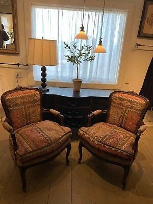 Beautiful Pair Of Antique Kilim Chairs