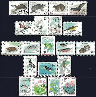 Japan 1974-1978 Nature Conservation 5 Series Complete set of 20 Fine Used