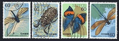 Japan 1987 Insects Series 5 set of 4 Fine Used