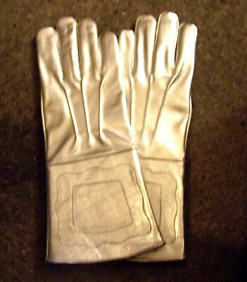 Silver Parade Horse Cavalry Rodeo Gloves Gauntlets Circus Band Master Ceremony