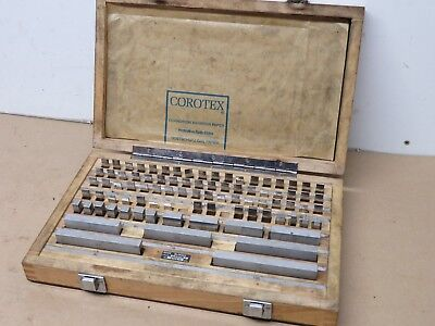 """Metric 88 Piece Slip Gauge Set 1.0005"""" to 100mm In Great Condition In Box ME1904"""