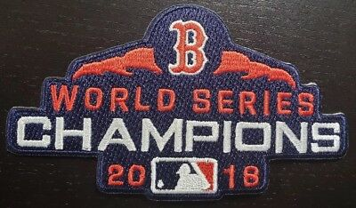 "Boston Red Sox MLB 2018 World Series Champs 4.5""Iron On Patch~FREE SHIPPING~"