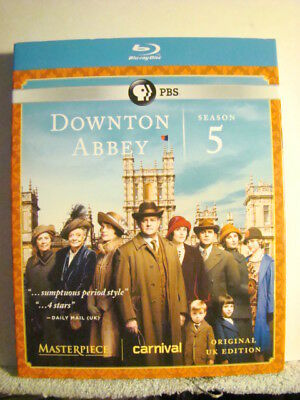 Sealed Blu Ray : 2012 - Downtown Abbey Season 5  - 3 Discs -  Slip Case