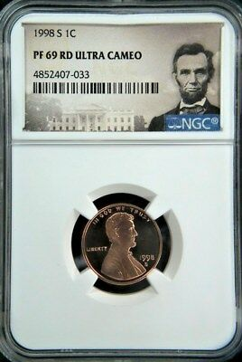 1998-S LINCOLN PROOF CENT 1c NGC PF69 RD ULTRA CAMEO (Portrait)