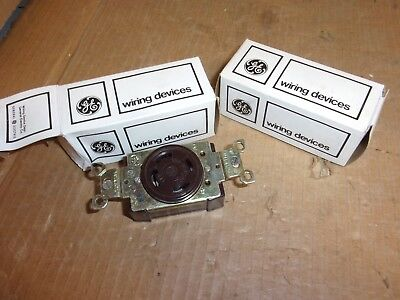 General Electric GL 1430 Single Locking Receptacle , 30 amp , Lot of 2