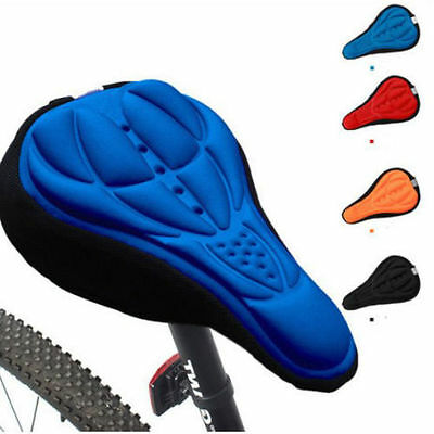 Cycling Bicycle Bike Soft Cushion 3D Gel Silicone Seat Pad Saddle Cover Case UU