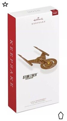 2018 Hallmark Keepsake Ornament Star Trek U.s.s. Discovery Magic