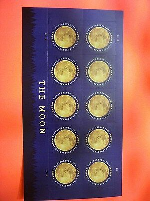 The Moon Sheet of 10 USPS Forever Rate Global Postage Stamp International 2016 :
