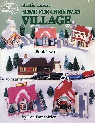 Home for Christmas Village Book 2 ~ Keepsakes plastic canvas pattern book USED