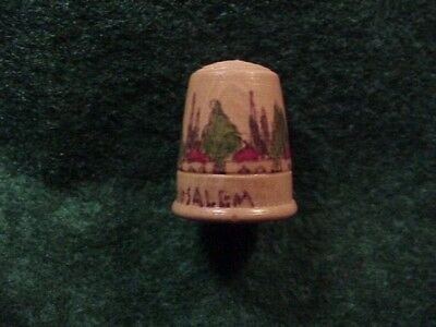 JERUSALERM~Thimble~WOOD