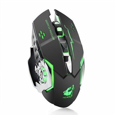 2000dpi three-speed adjustment free wolf X8 wireless colorful charging mouse HZ
