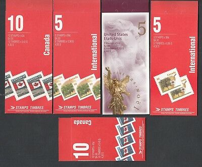 Canada -5 Mint/nh Older Booklets In Perfect Shape - Face Alone 19.30 !!