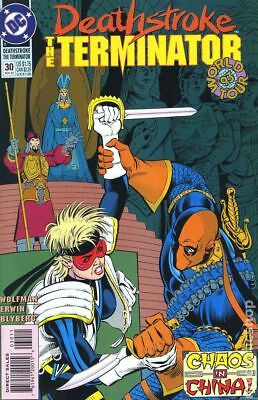 Deathstroke the Terminator #30 1993 VG Stock Image Low Grade