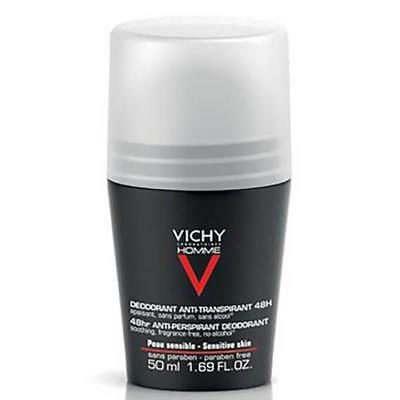 Vichy 🔥 Homme Men's Deodorant Extreme-Control Anti-Perspirant Roll-On Skin Men