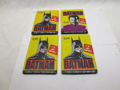 1989 Topps BATMAN Joker  Sealed Series 1 Vintage DC Original Wax 4 Packs