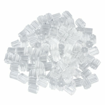 100pcs Earring Backs 3mm Safety for Fish Hook Translucent Stoppers Protecto M1E7
