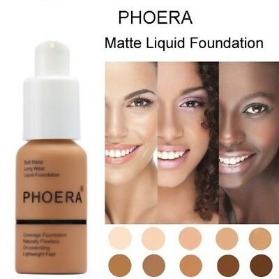 Full Coverage Makeup Fast Base Brighten Long-lasting Shade PHOERA Foundation