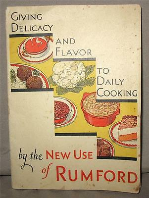 64 New Uses For RUMFORD Baking Powder in Daily Cooking 1931 Antique Ad Cookbook