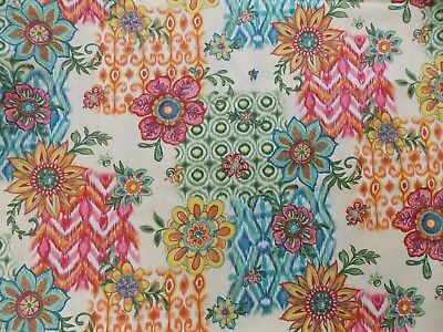 Fabric Ikat Loose Patch Legacy Studio Mod Floral Retro CP42536 Flower Quilting