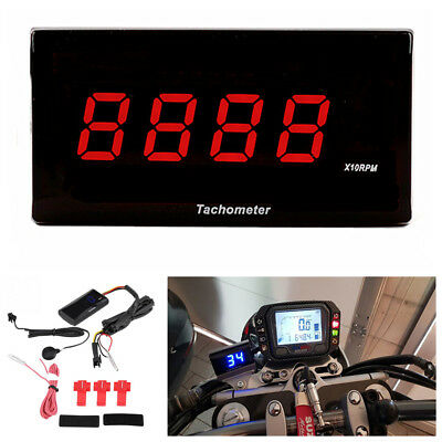 Motorcycle LED Digital Gear Display Electronic Tachometer Inductive Tachometer