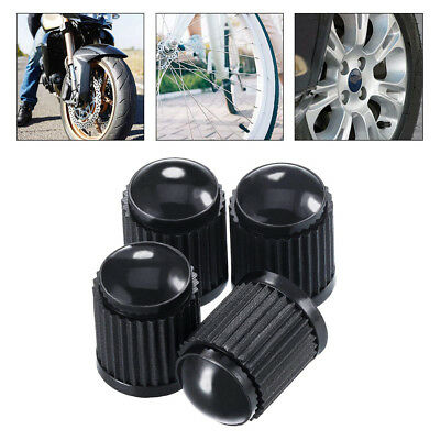4pcs Black Plastic Wheel Tire Air Valve Caps Valve Covers For Car Motor Bicycles