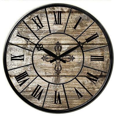 38cm Large Vintage Style Antique Rustic Round Home Bedroom Kitchen Wall Clocks