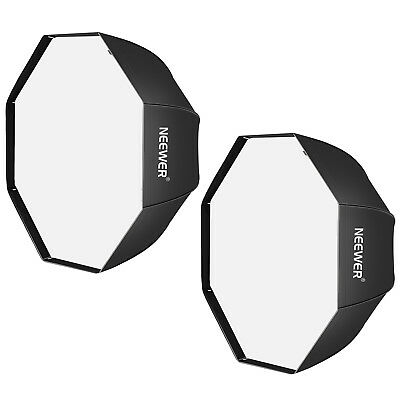 Neewer 120cm Negro Portable Octagonal Softbox para Estudio Flash(2 Pack)