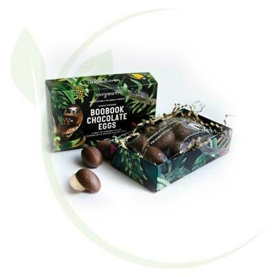 Loving Earth Boobook Chocolate Eggs Vegan